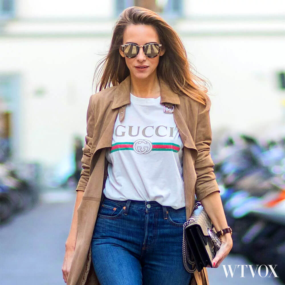 celebrity wearing Gucci