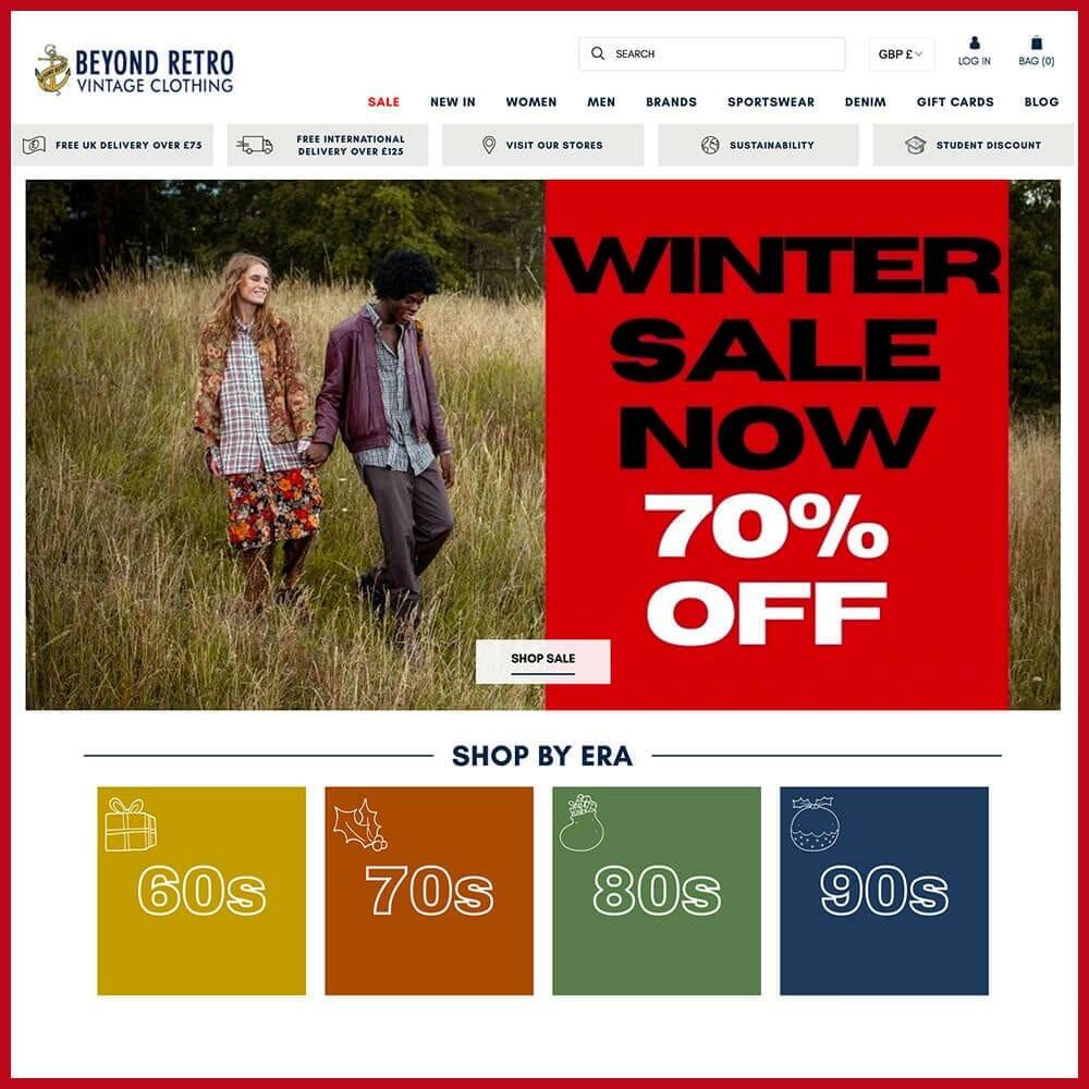 Beyond Retro Online thrift store