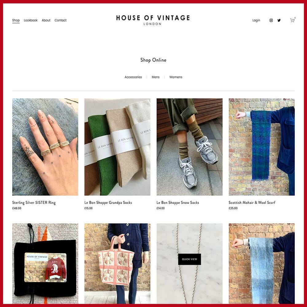 House of Vintage online thrift store
