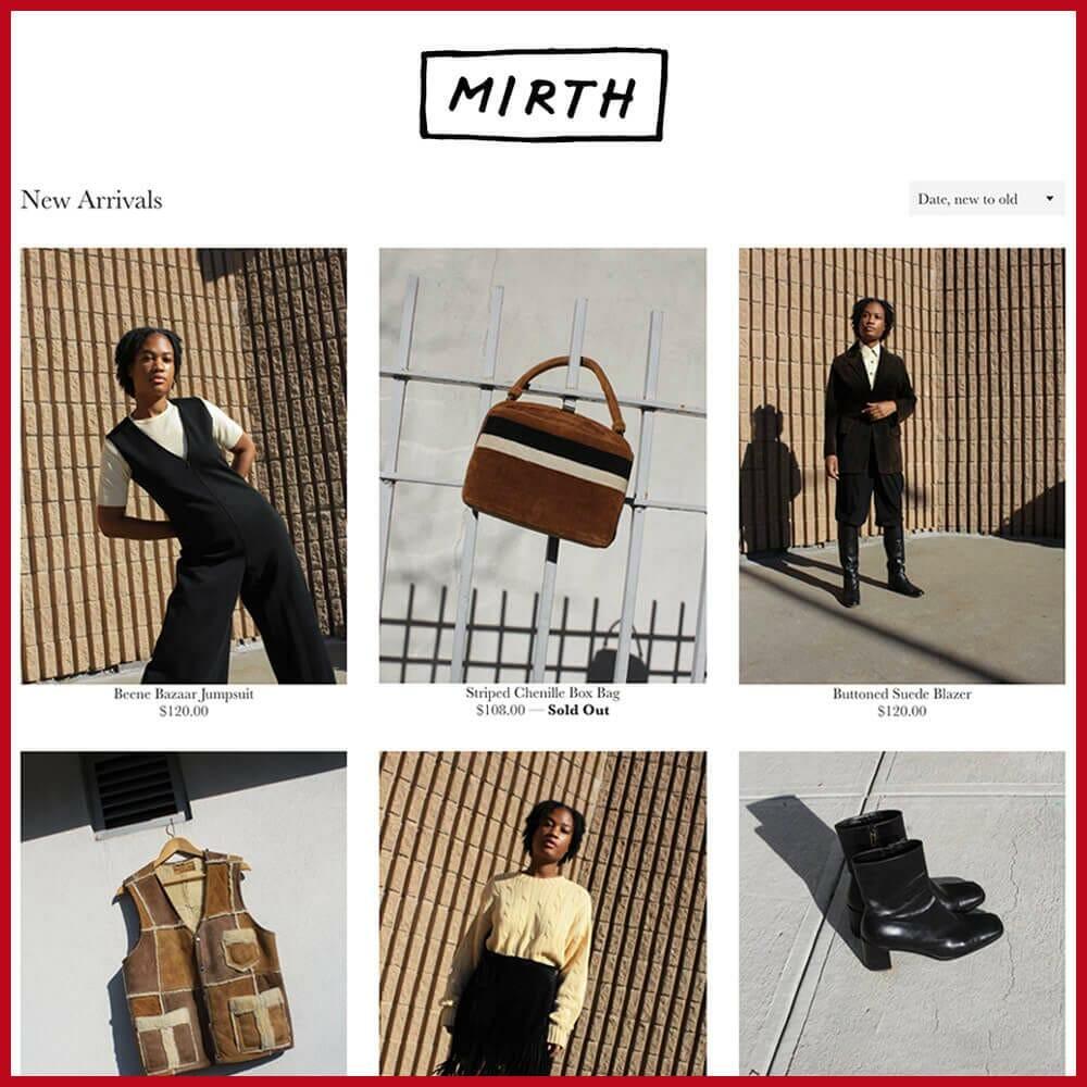 Mirth online thrift store