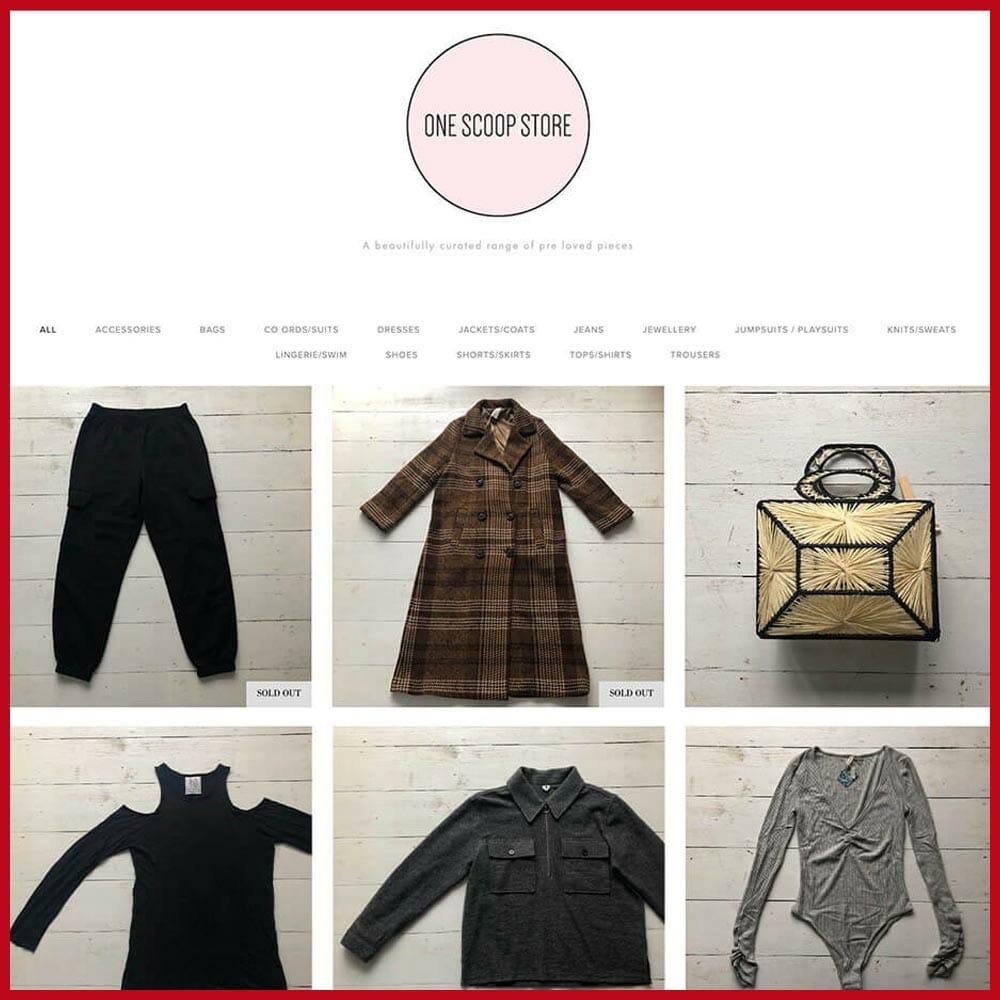 One Scoop Store online thrift store