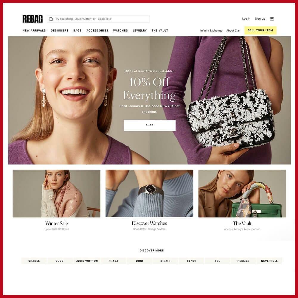 Rebag online thrift store
