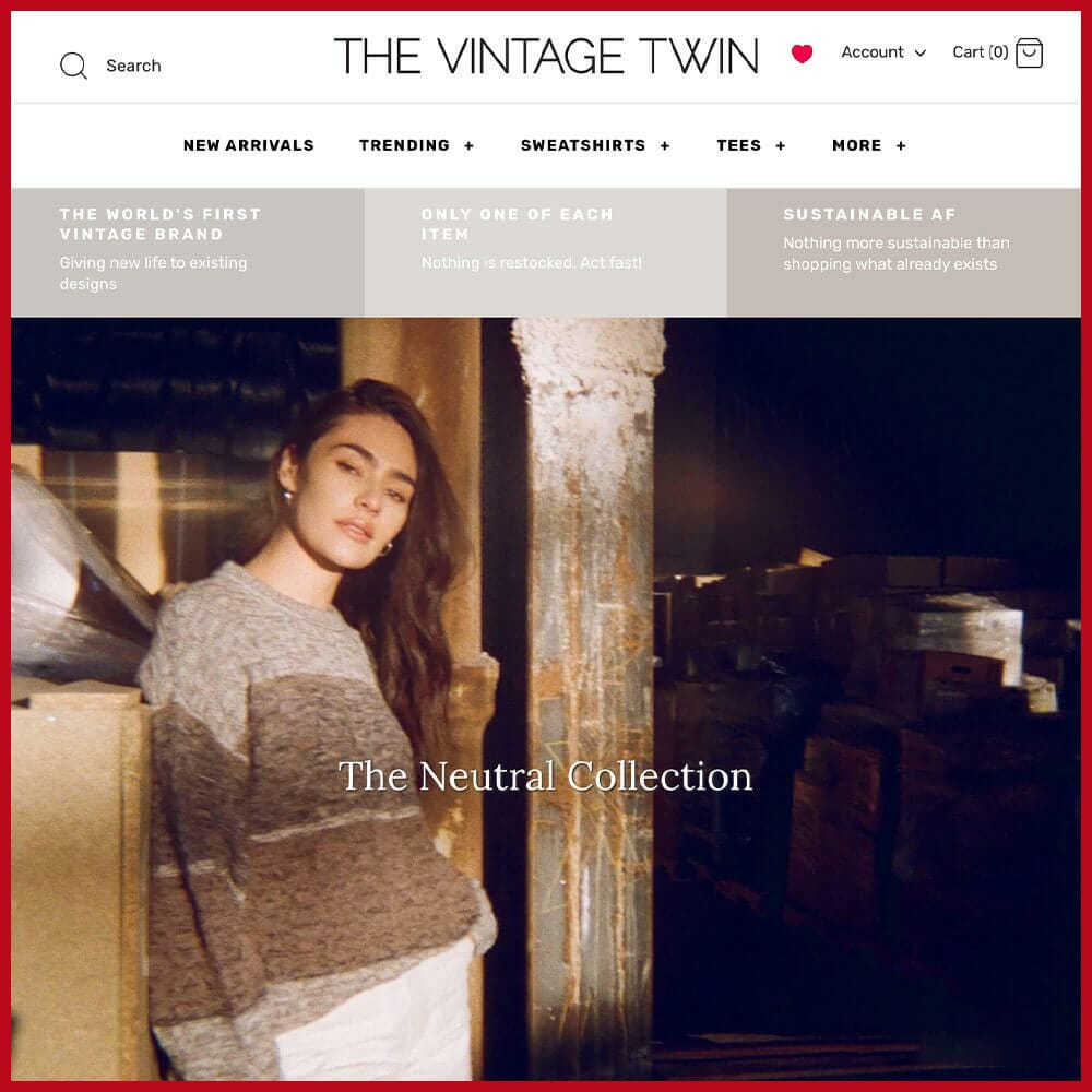 The Vintage Twin online thrift store