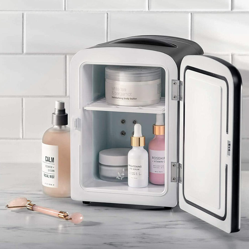 Chefman mini skincare fridge