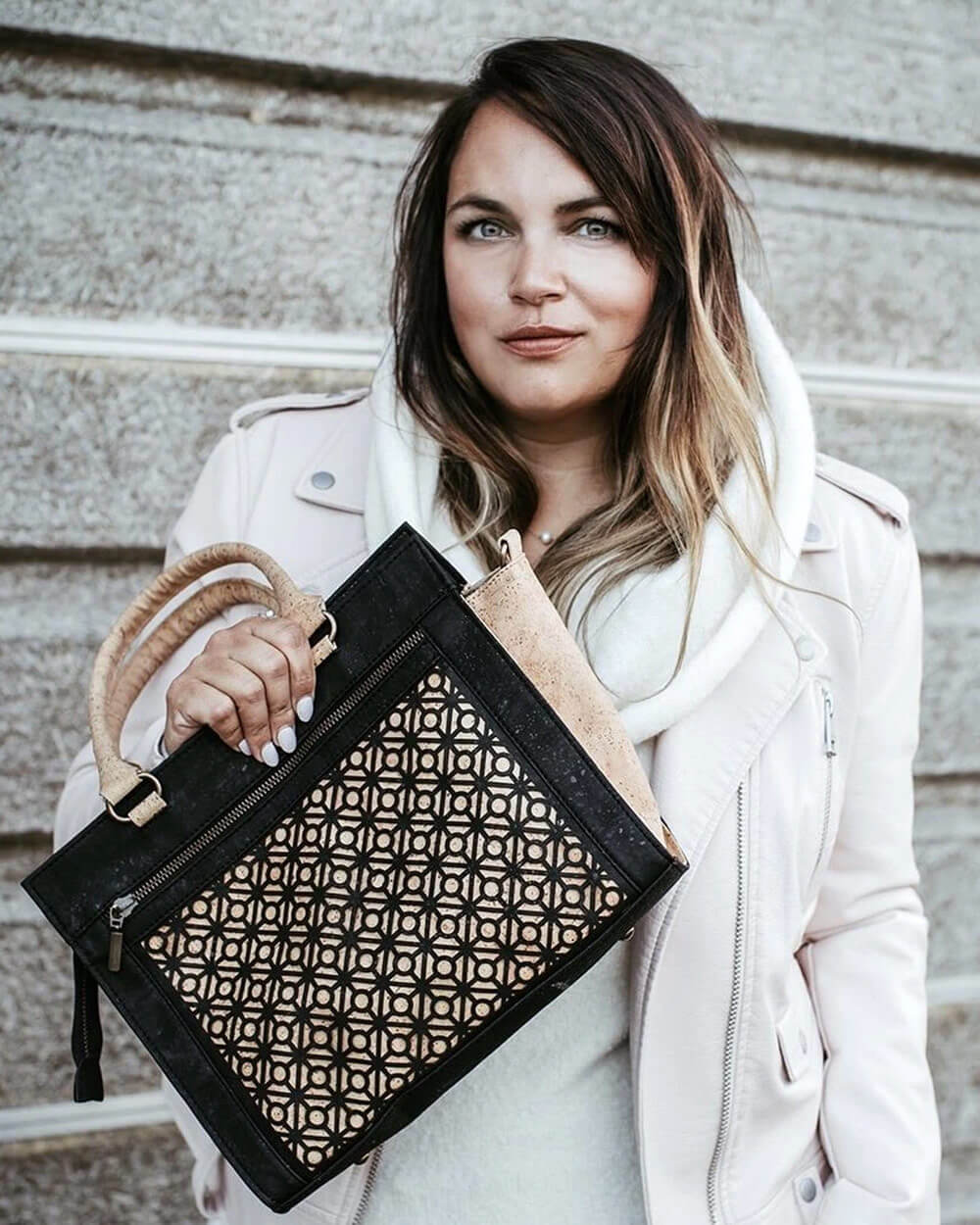 Eve cork vegan handbags