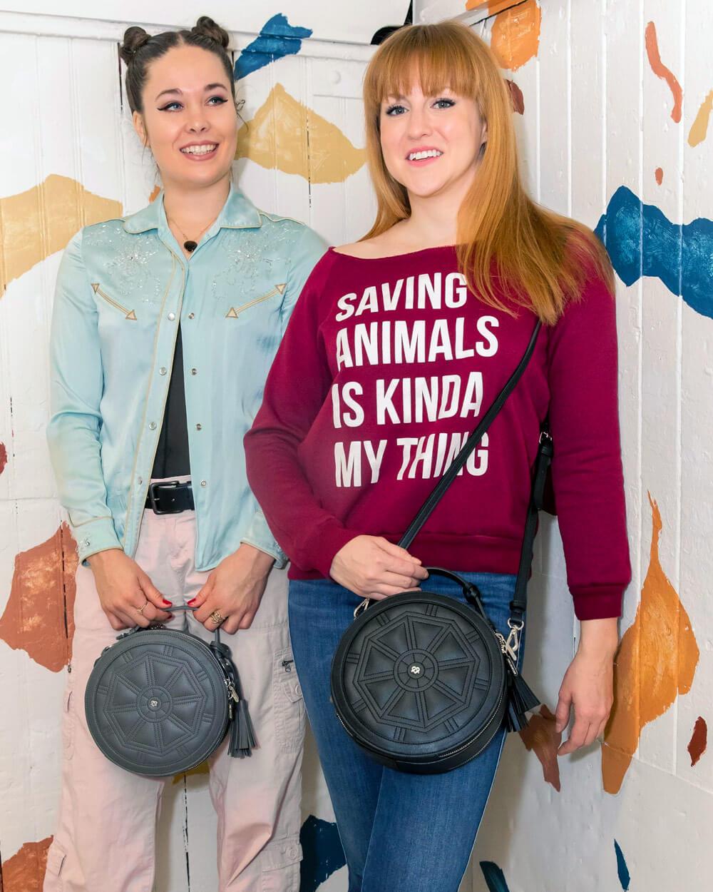 Gunas vegan leather handbags