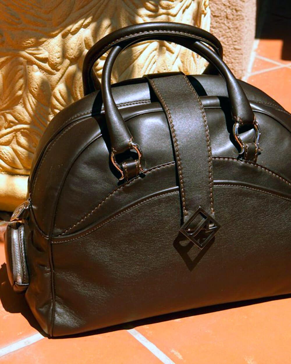 Jill Milan vegan leather travel bag