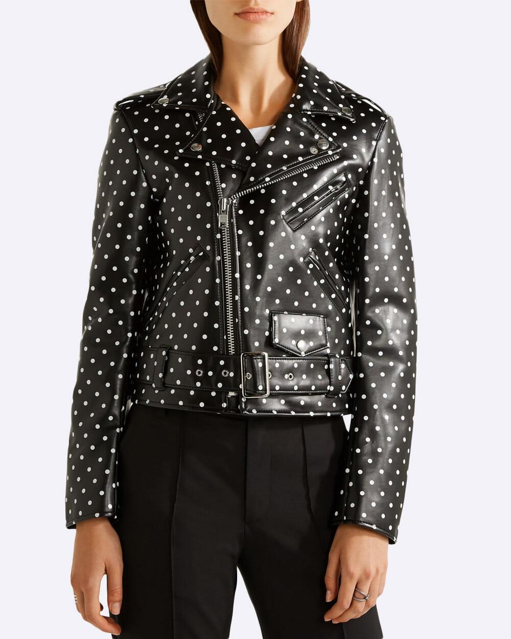 Comme des Garcons faux leather biker Jacket