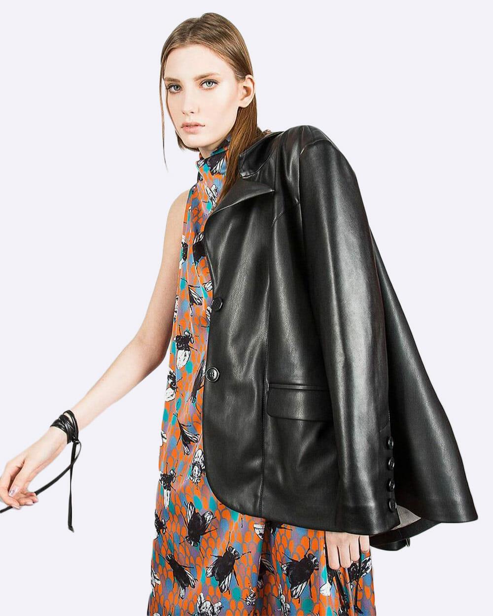 Julia Allert Vegan Leather Suit Jacket