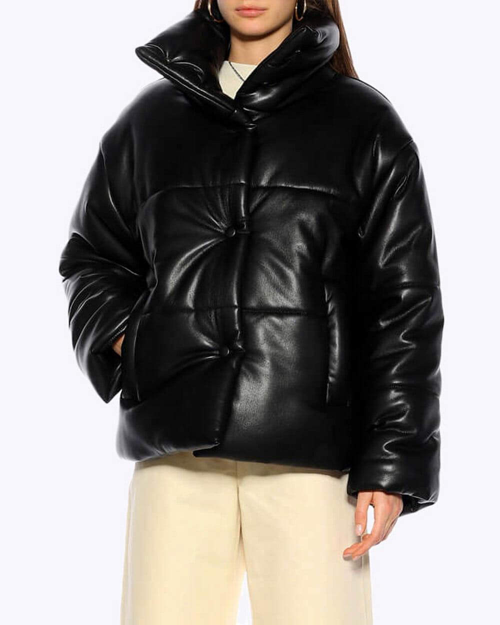 Nanushka vegan leather puffer jacket