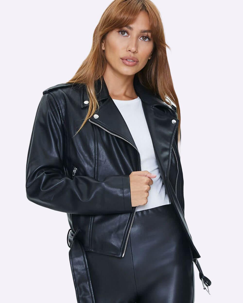Vegan leather jacket forever 21 faux leather biker jacket