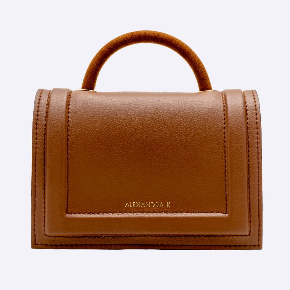 Alexandra K Hope Brown Sugar Vegan Leather Mini Bag