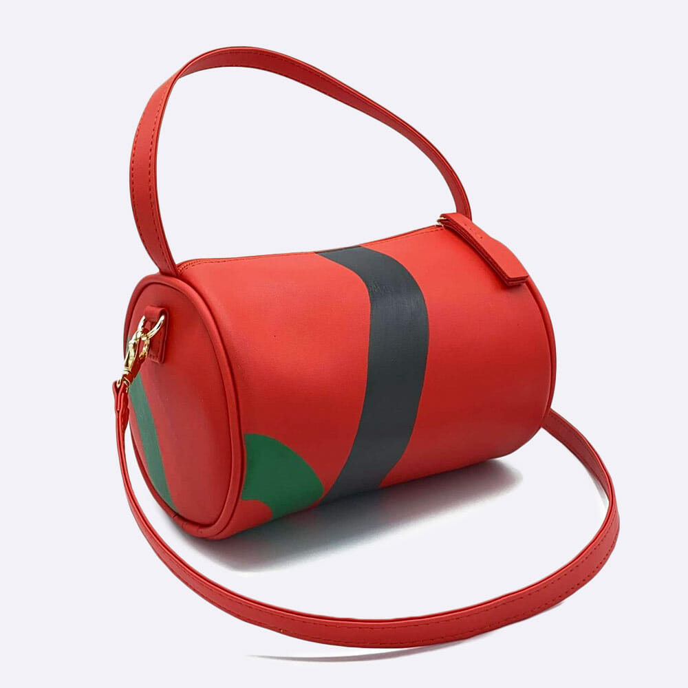 Hozen Mini Duffle Vegan Leather Bag - Rouge x Mary Matson