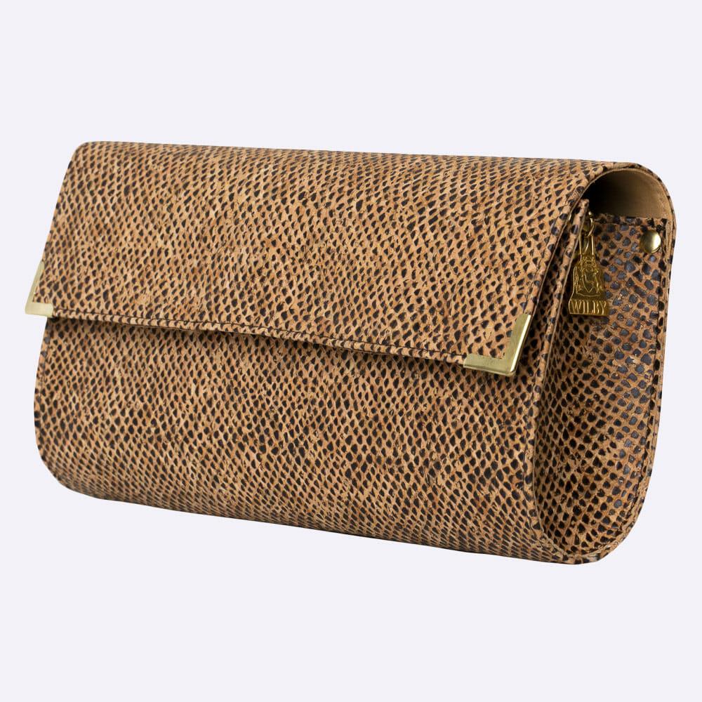 Wilby Snake Spot Vegan Leather Clutch Bag