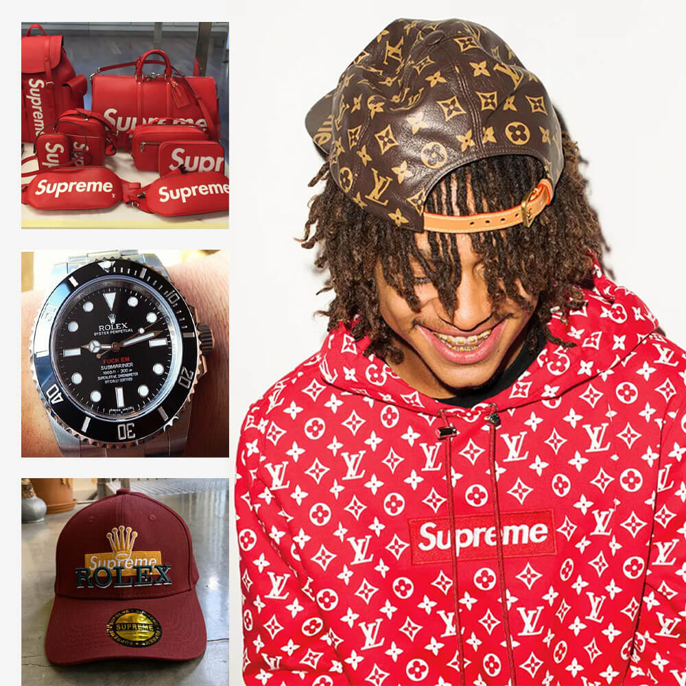 Supreme collaboration with LV and Rolex