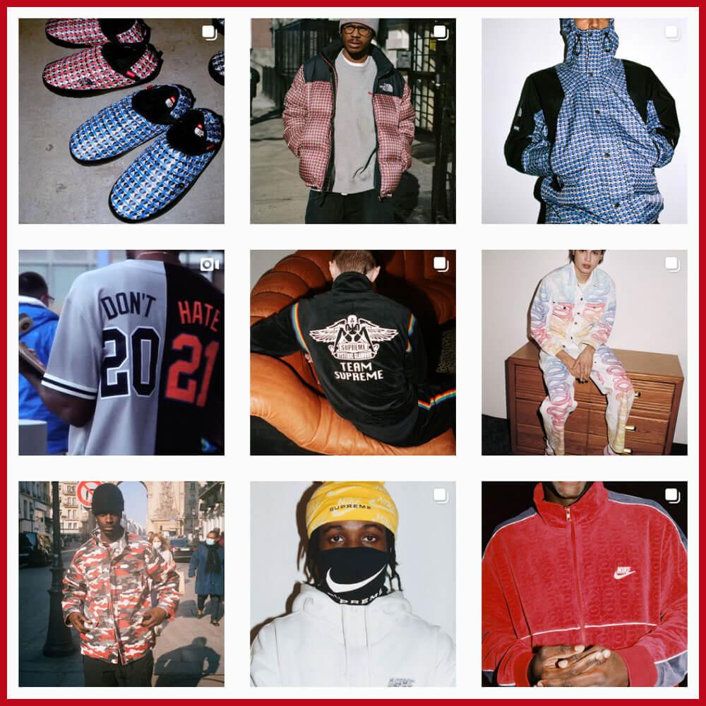 Supreme streetwear Instagram