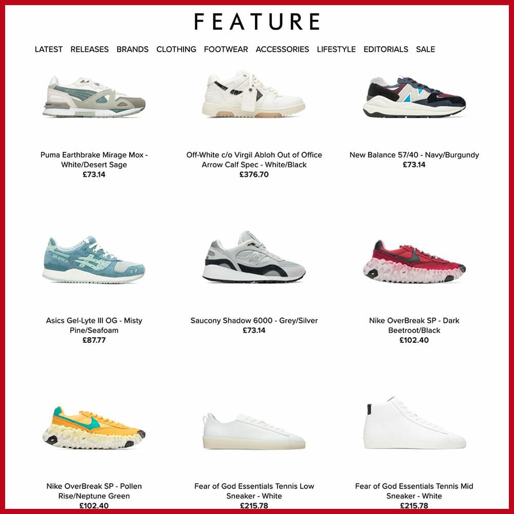 FEATURE best sneaker website