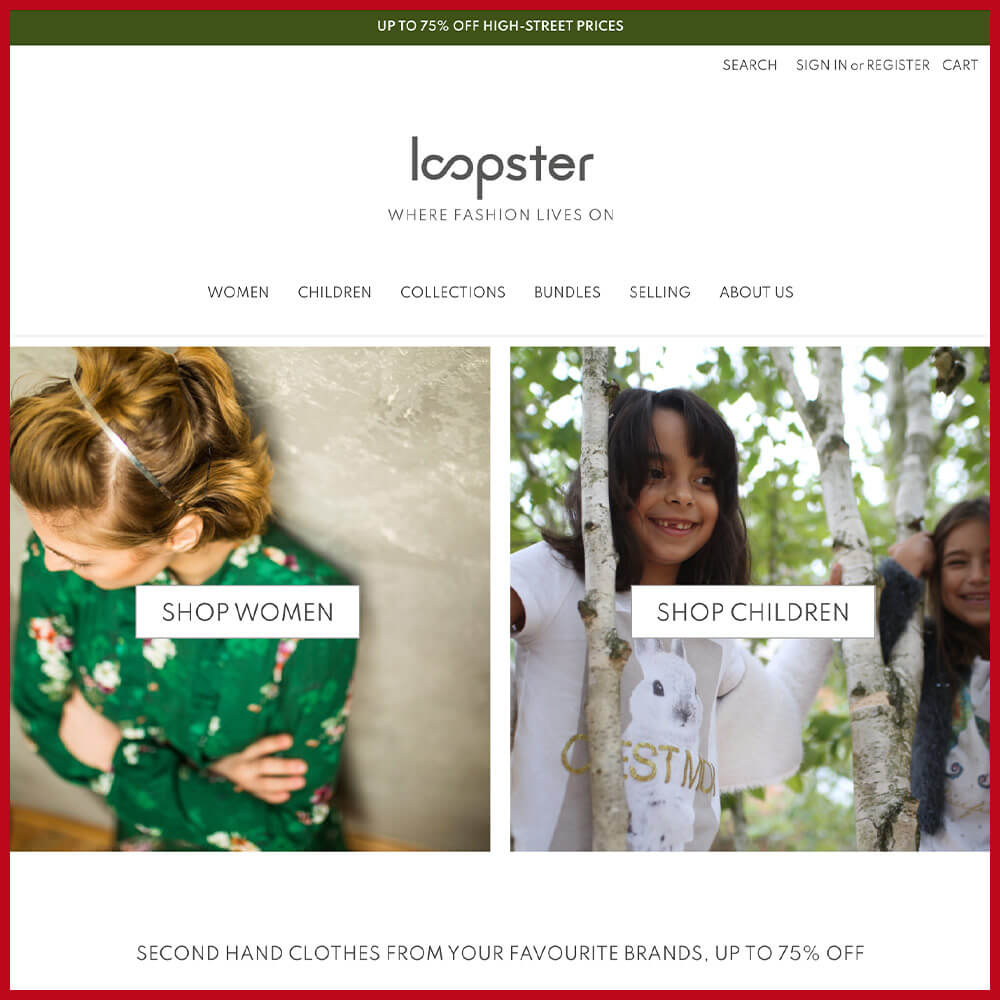 Loopster online thrift store