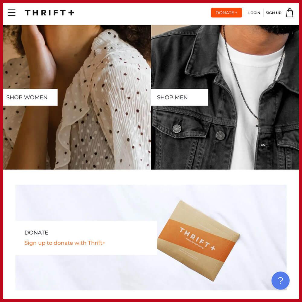 Thrift + online thrift store