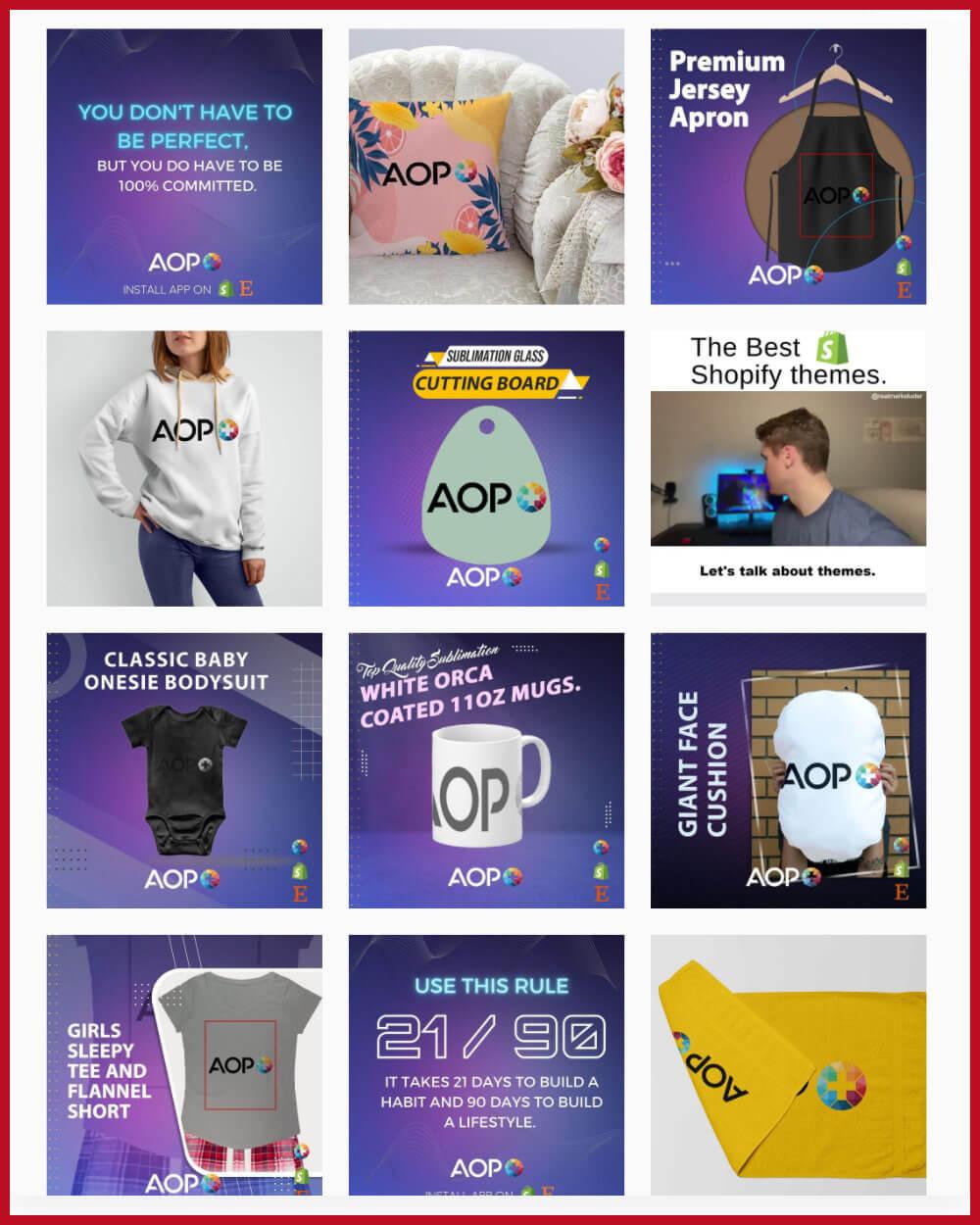 AOP Easy Print on Demand Private Label Manufacturer