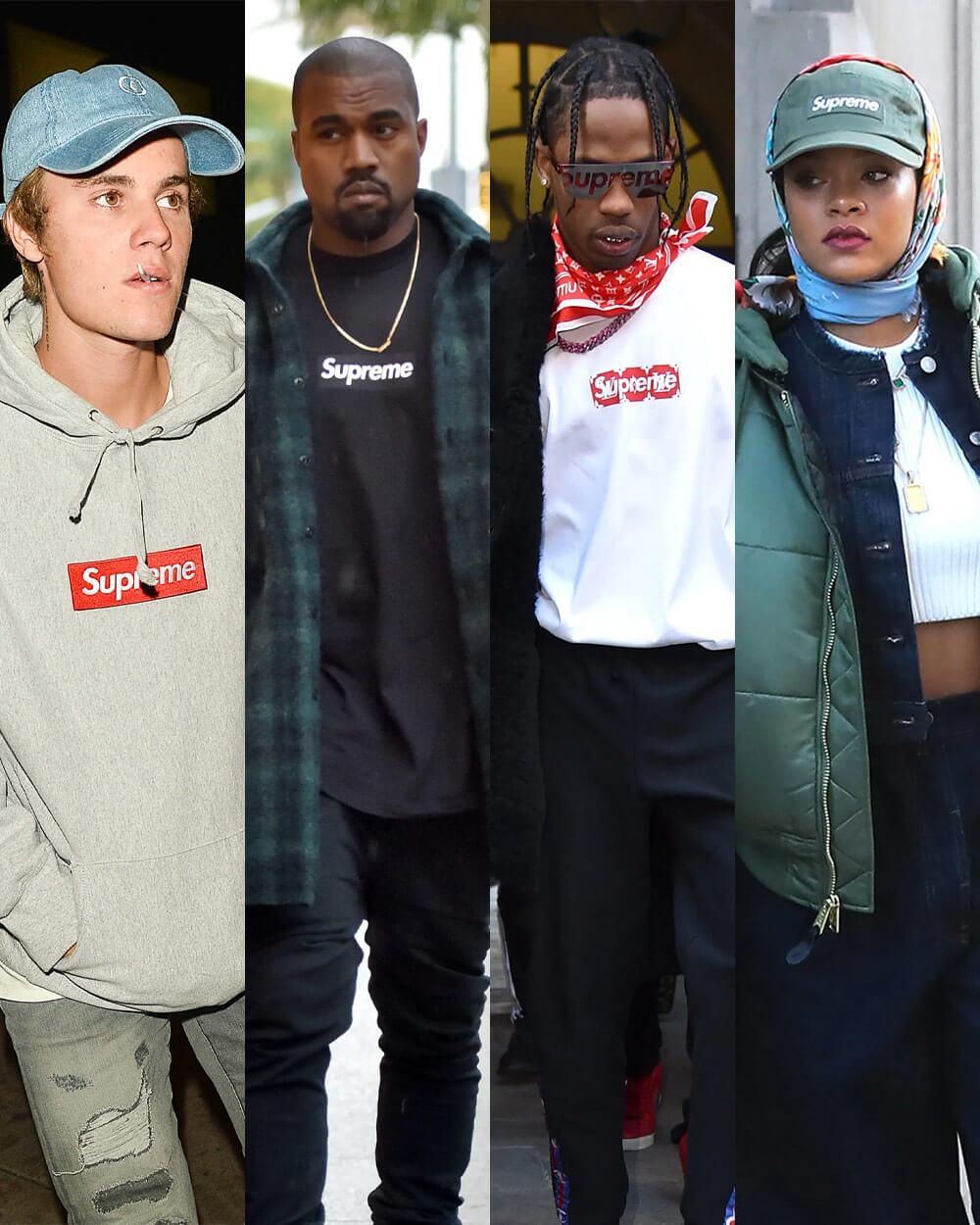 Supreme on celebrities