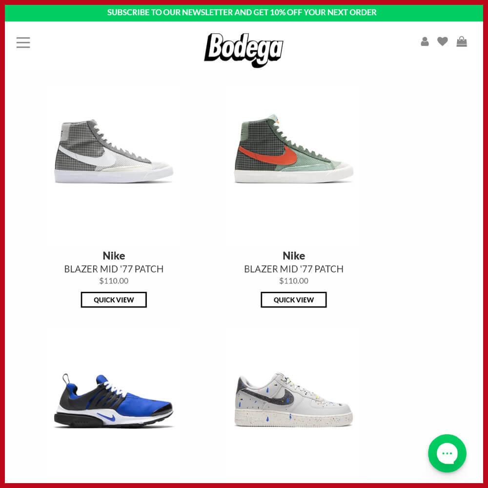 Bodega sneaker website
