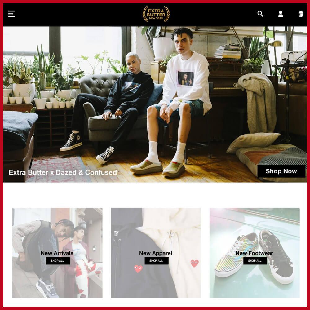 Extra Butter sneaker website