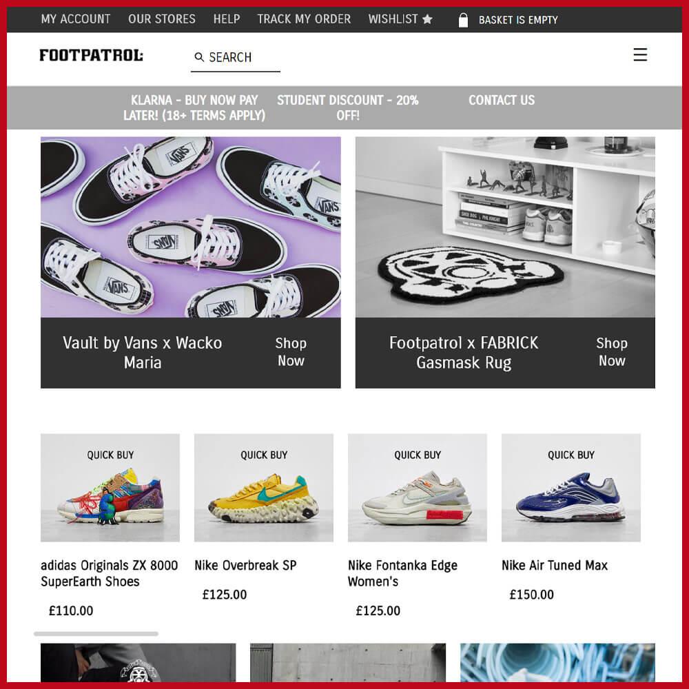 Footpatrol best sneaker website