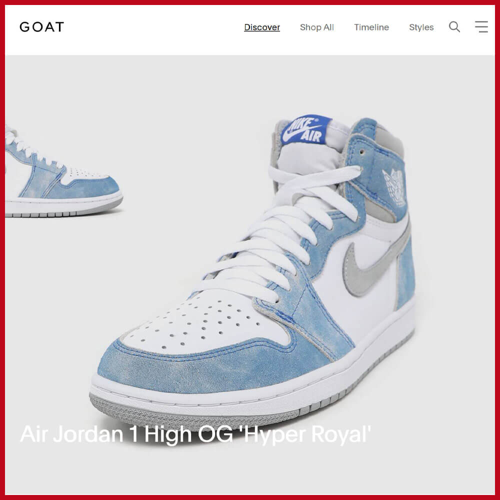 GOAT sneaker online store to shop and sell