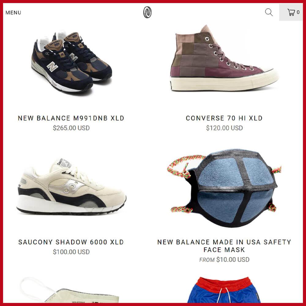 ONENESS sneaker website