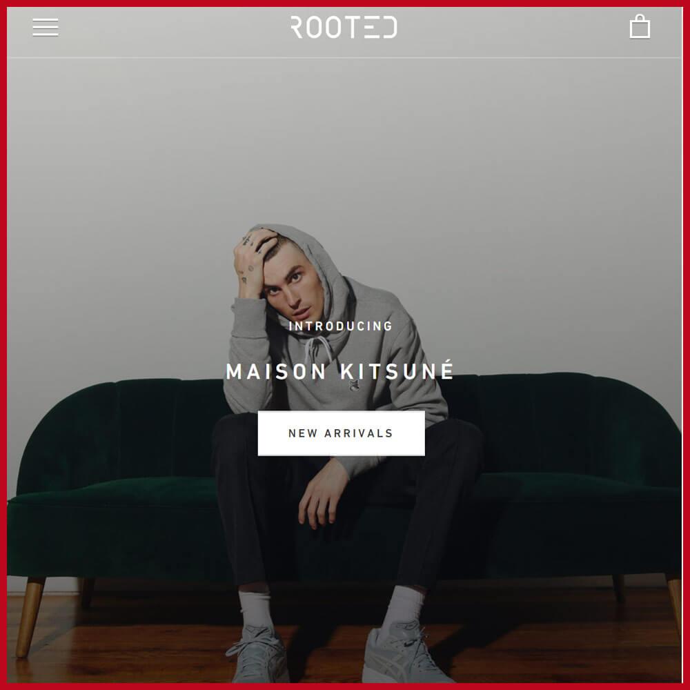 ROOTED sneakers website