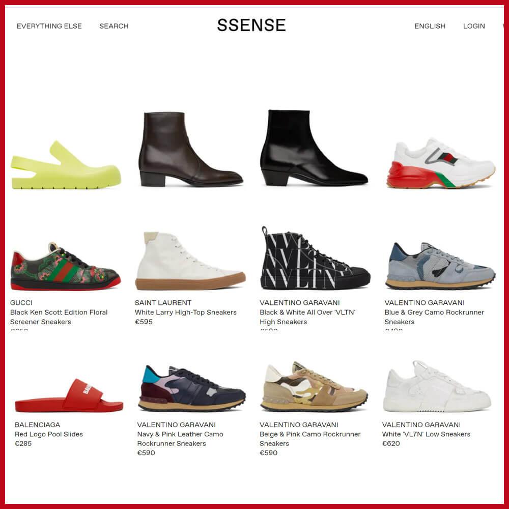 SSENSE sneaker website