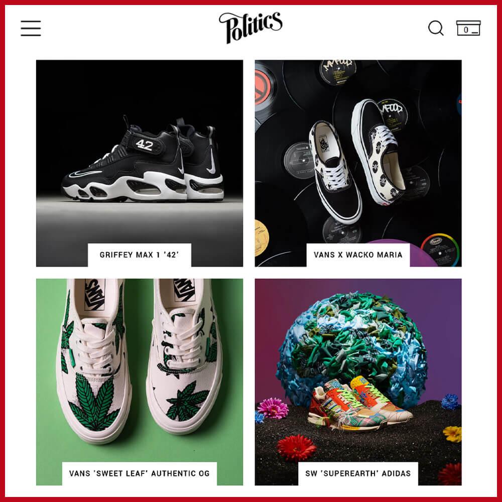 SNEAKER POLITICS best sneaker website