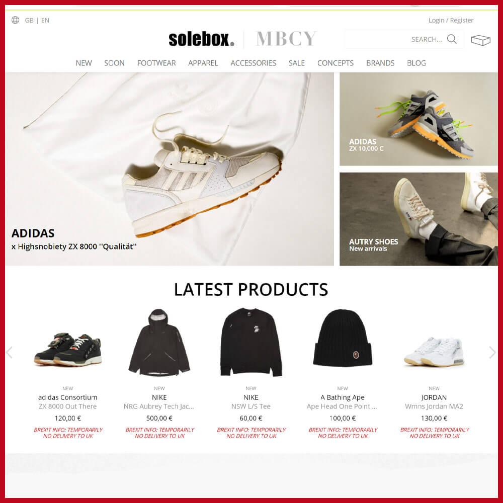 SOLEBOX sneaker website