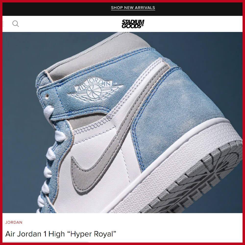 STADIUM GOODS sneaker website