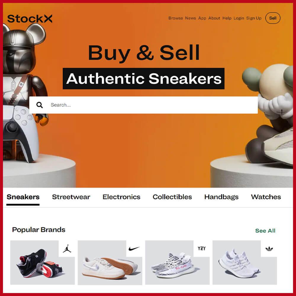 STOCKX best sneaker websites