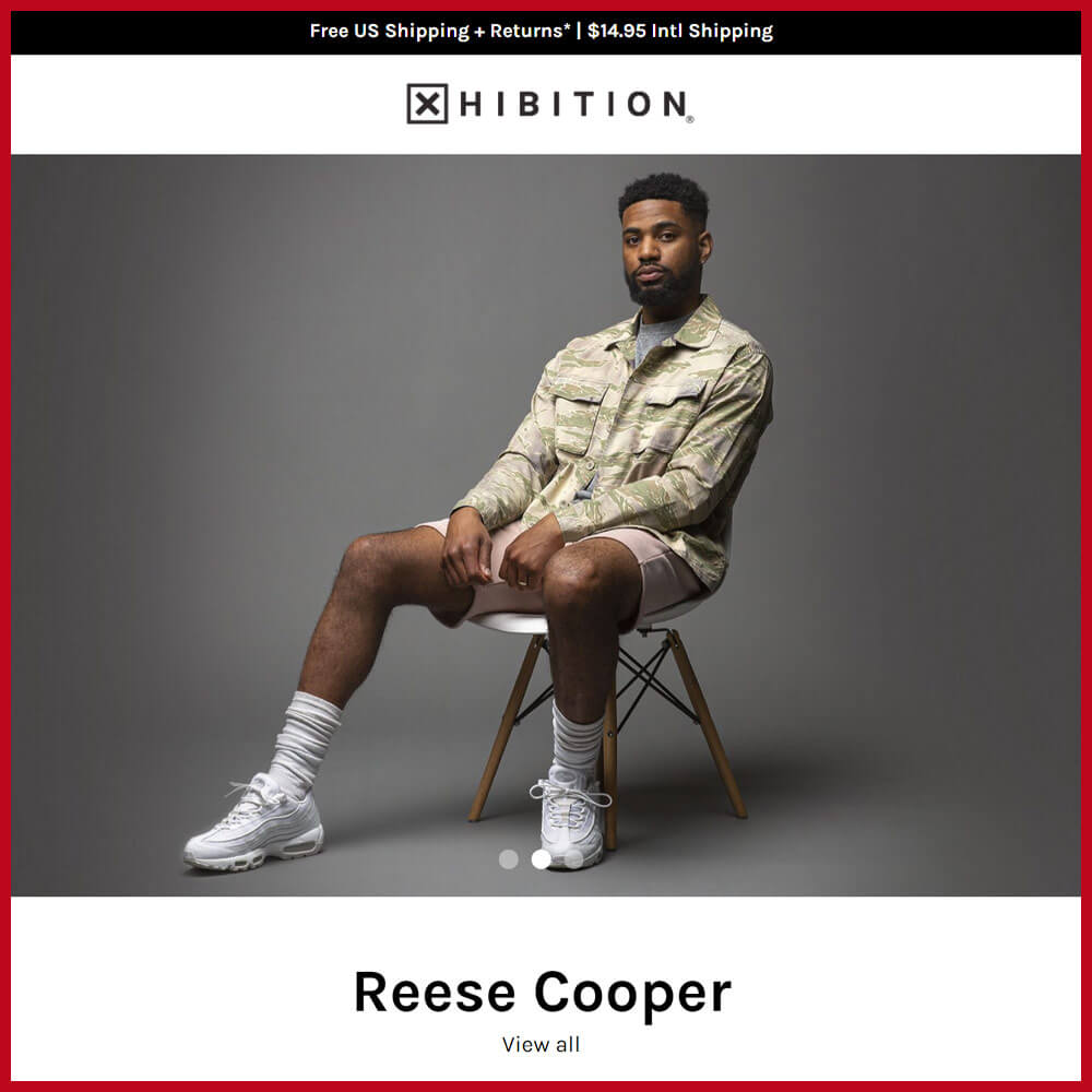 XHIBITION sneaker website