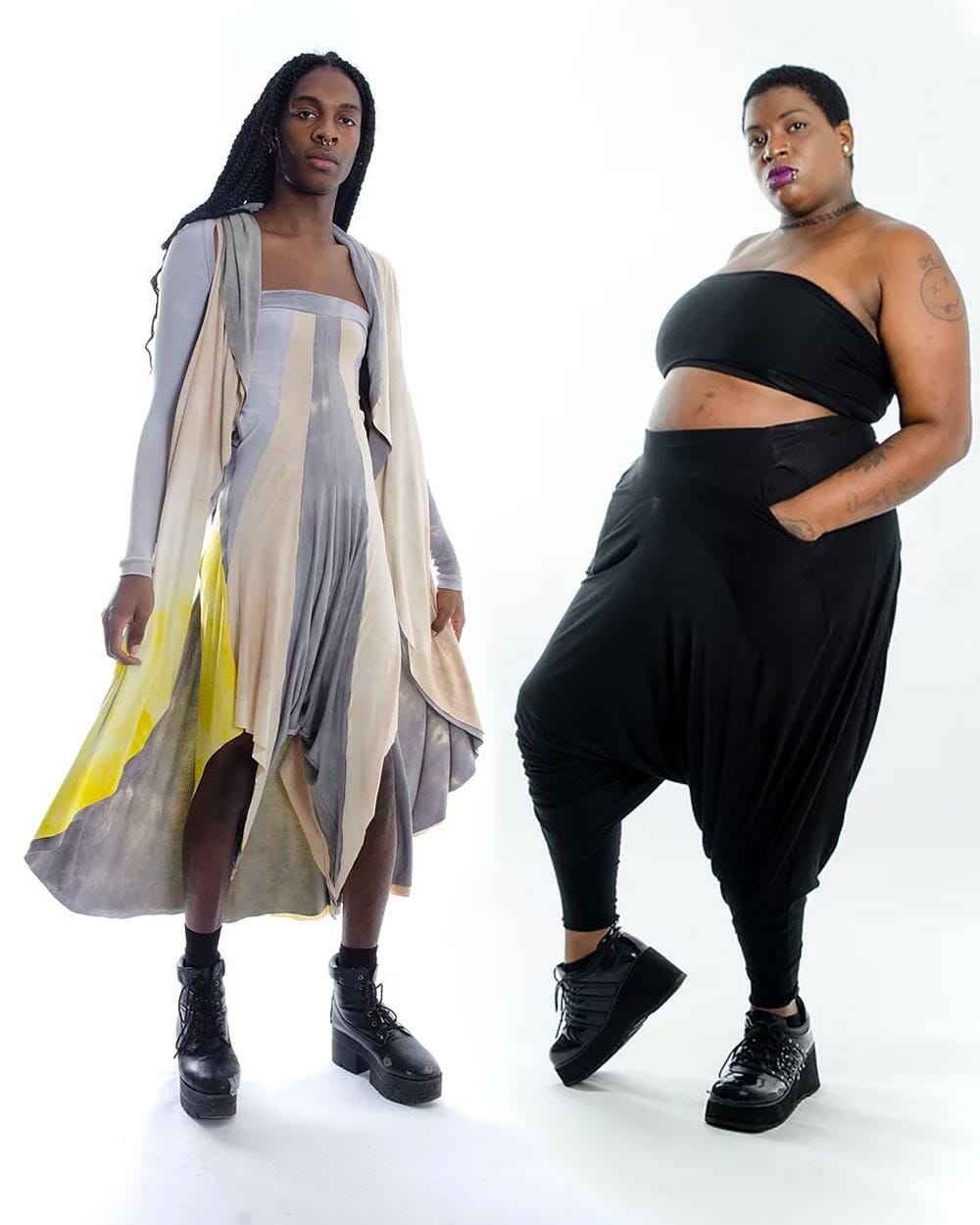 Cilium/Tilly and William Androgynous clothing