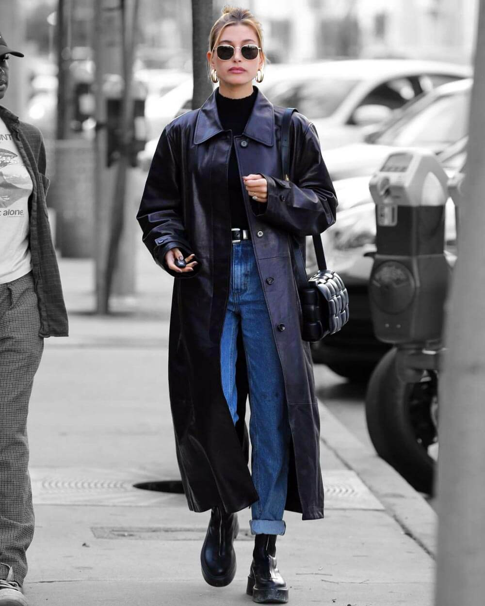 Casual faux leather trench fashion trends 2021