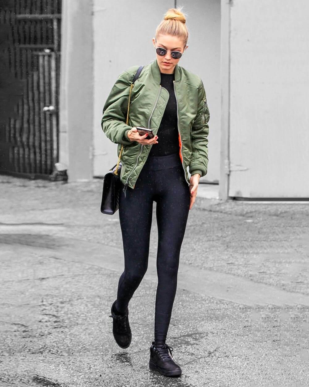 Oversized bomber jacket fashion trends 2021