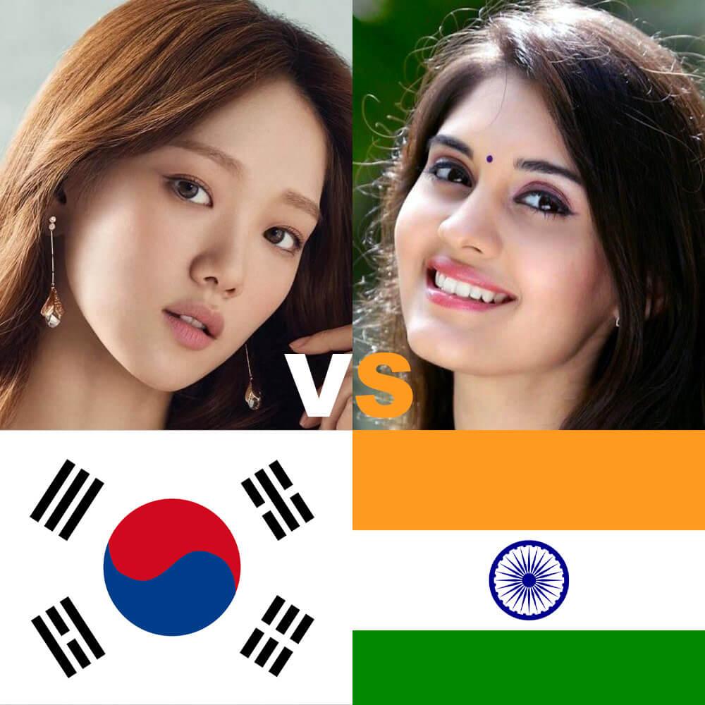 Korean vs Indian beauty standards