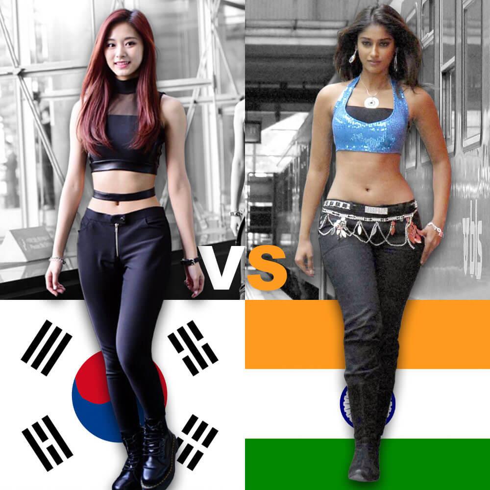 Korean vs Indian body beauty standards