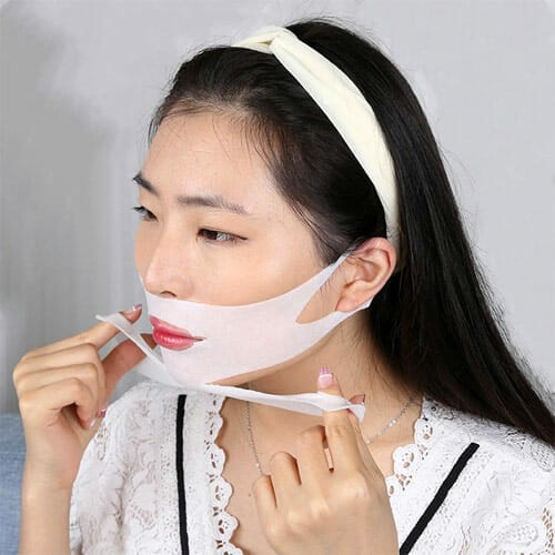 V-shape Jaw in Korean Beauty Standards face mask