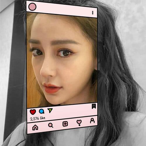 V-shape Jaw in Korean Beauty Standards on Instagram