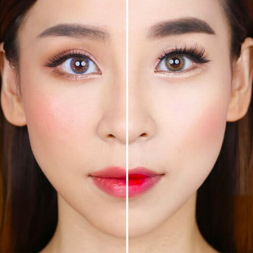 V-shape Jaw in Korean Beauty Standards Makeup
