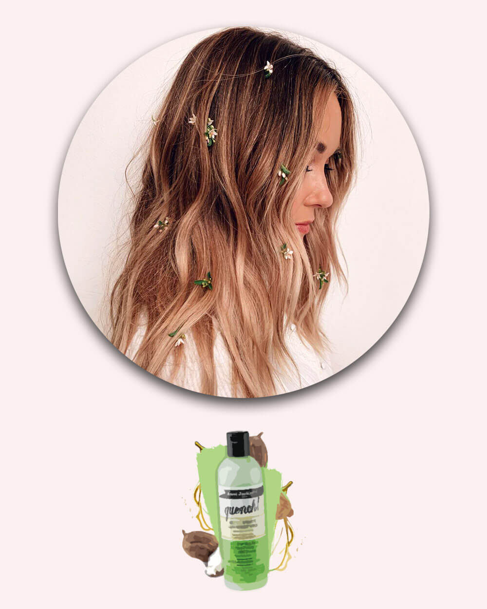 Leave-in split end treatment