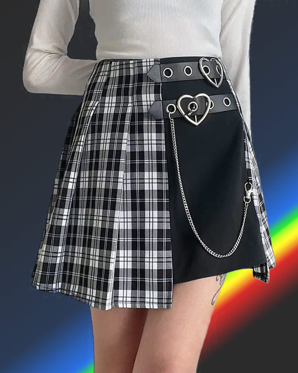 E-girl fashion belt chain