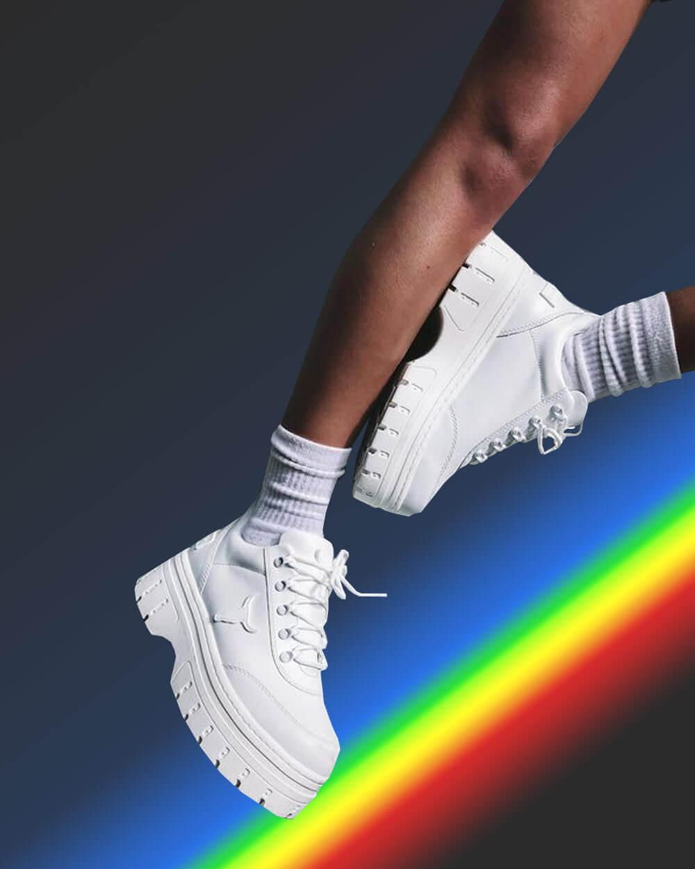 egirl platform sneakers