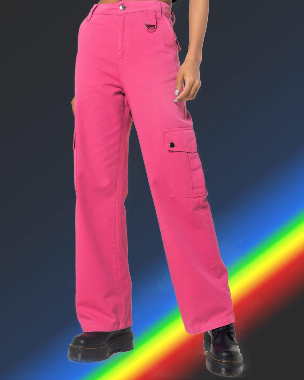 E girl clothing pop-coloured pants