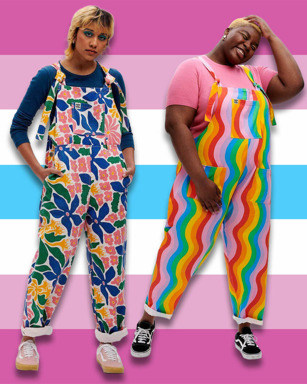 Lucy and Yak Femboy dungarees